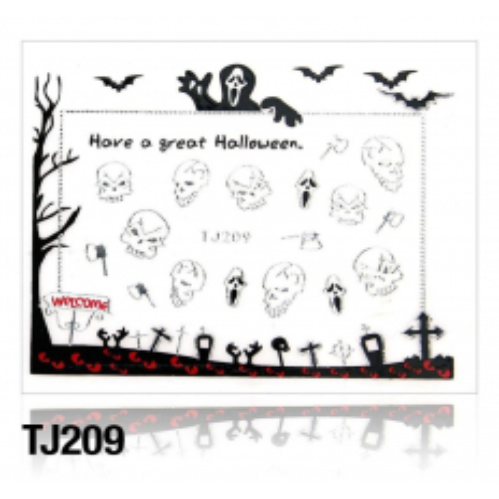 Nálepky na nechty Halloween TJ209 NechtovyRAJ.sk - Daj svojim nechtom všetko, čo potrebujú