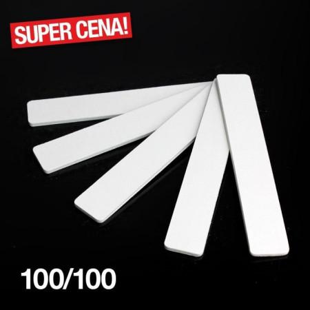 Pilník biely hranatý 100/100 NechtovyRAJ.sk - Daj svojim nechtom všetko, čo potrebujú