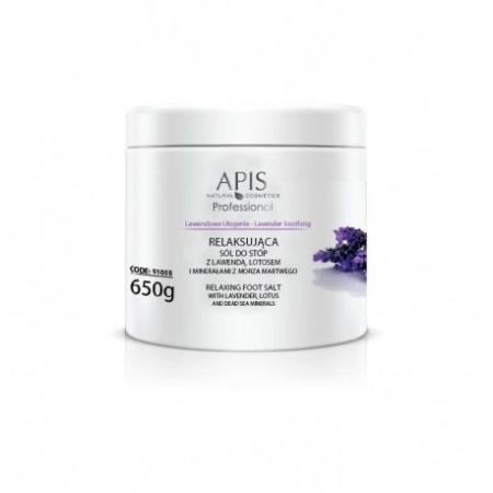 APIS relaxačná soľ s levanduľou a lotosom 650 g NechtovyRAJ.sk - Daj svojim nechtom všetko, čo potrebujú