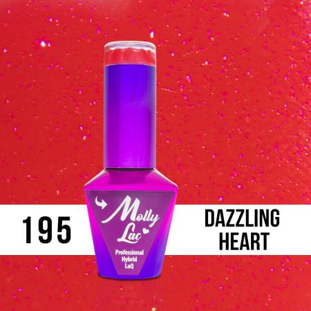 195. MOLLY LAC gél lak - DAZZLING HEART 5 ml