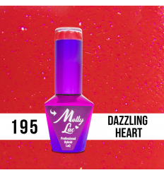 195. MOLLY LAC gél lak - DAZZLING HEART 5 ml