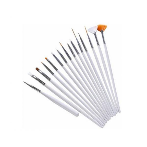 Sada štetcov pre nail art biela 15 ks NechtovyRAJ.sk - Daj svojim nechtom všetko, čo potrebujú