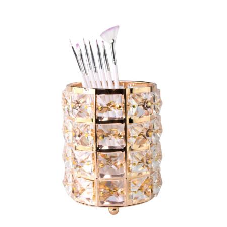 Luxusný stojan na štetce zlatý NechtovyRAJ.sk - Daj svojim nechtom všetko, čo potrebujú