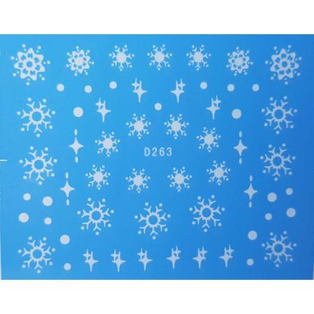 Vianočná vodonálepka vločky D263 NechtovyRAJ.sk - Daj svojim nechtom všetko, čo potrebujú