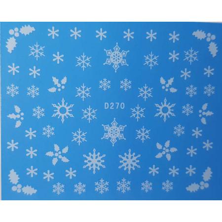 Vianočná vodonálepka vločky D270 NechtovyRAJ.sk - Daj svojim nechtom všetko, čo potrebujú