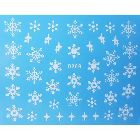Vianočná vodonálepka vločky D269 NechtovyRAJ.sk - Daj svojim nechtom všetko, čo potrebujú