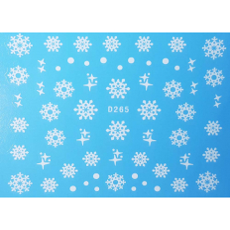 Vianočná vodonálepka vločky D265 NechtovyRAJ.sk - Daj svojim nechtom všetko, čo potrebujú