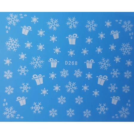 Vianočná vodonálepka vločky D268 NechtovyRAJ.sk - Daj svojim nechtom všetko, čo potrebujú
