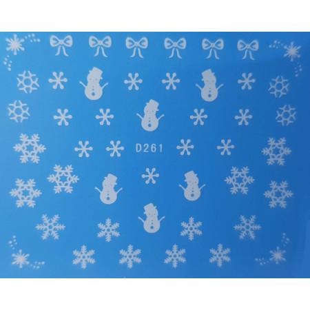 Vianočná vodonálepka vločky D261 NechtovyRAJ.sk - Daj svojim nechtom všetko, čo potrebujú