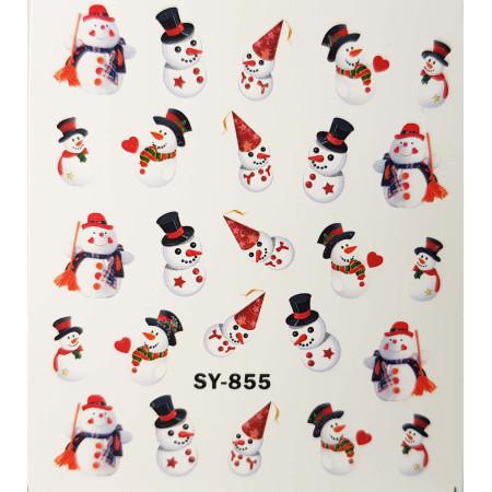 Vianočné vodolepky snehuliak SY855 NechtovyRAJ.sk - Daj svojim nechtom všetko, čo potrebujú