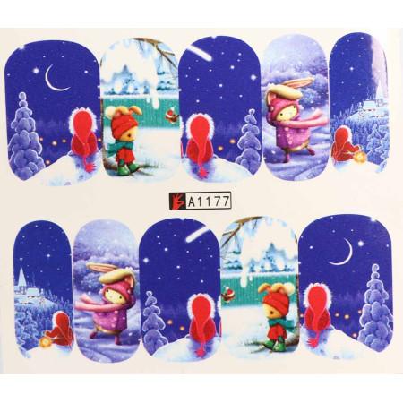 Vianočná vodolepka X-mas A1177 NechtovyRAJ.sk - Daj svojim nechtom všetko, čo potrebujú