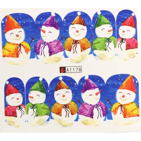 Vianočná vodolepka X-mas A1178 NechtovyRAJ.sk - Daj svojim nechtom všetko, čo potrebujú