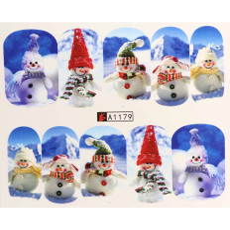 Vianočná vodolepka X-mas A1179 NechtovyRAJ.sk - Daj svojim nechtom všetko, čo potrebujú