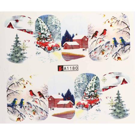 Vianočná vodolepka X-mas A1180 NechtovyRAJ.sk - Daj svojim nechtom všetko, čo potrebujú