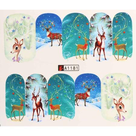 Vianočná vodolepka X-mas A1181