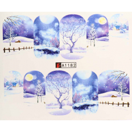Vianočná vodolepka X-mas A1182 NechtovyRAJ.sk - Daj svojim nechtom všetko, čo potrebujú