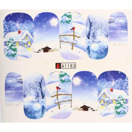 Vianočná vodolepka X-mas A1183 NechtovyRAJ.sk - Daj svojim nechtom všetko, čo potrebujú