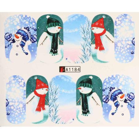 Vianočná vodolepka X-mas A1184 NechtovyRAJ.sk - Daj svojim nechtom všetko, čo potrebujú