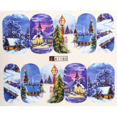 Vianočná vodolepka X-mas A1185 NechtovyRAJ.sk - Daj svojim nechtom všetko, čo potrebujú