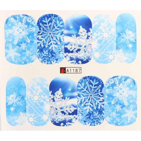 Vianočná vodolepka X-mas A1187 NechtovyRAJ.sk - Daj svojim nechtom všetko, čo potrebujú