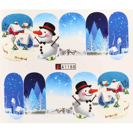 Vianočná vodolepka X-mas A1188 NechtovyRAJ.sk - Daj svojim nechtom všetko, čo potrebujú