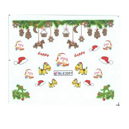 Vianočná vodolepka X-mas BLE2097 NechtovyRAJ.sk - Daj svojim nechtom všetko, čo potrebujú
