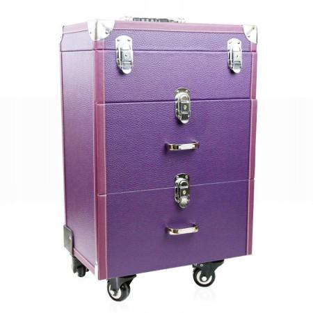 Kozmetický kufrík Lux fialový K399 NechtovyRAJ.sk - Daj svojim nechtom všetko, čo potrebujú
