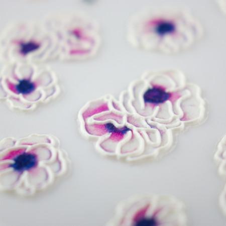 5D nálepka na nechty 12 - kvety NechtovyRAJ.sk - Daj svojim nechtom všetko, čo potrebujú