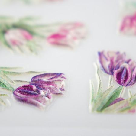 5D nálepka na nechty 01 - kvety NechtovyRAJ.sk - Daj svojim nechtom všetko, čo potrebujú