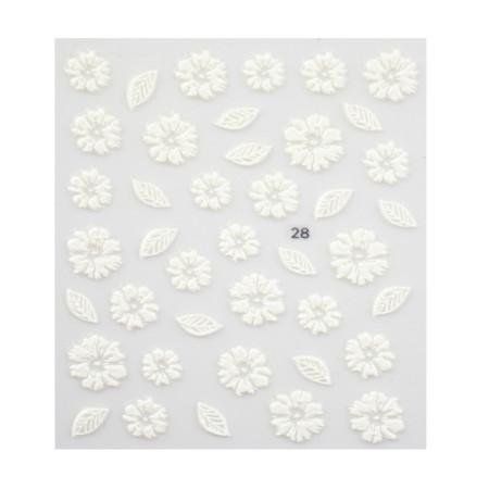 5D nálepka na nechty 28 - kvety