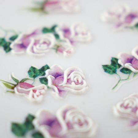 5D nálepka na nechty 08 - kvety NechtovyRAJ.sk - Daj svojim nechtom všetko, čo potrebujú