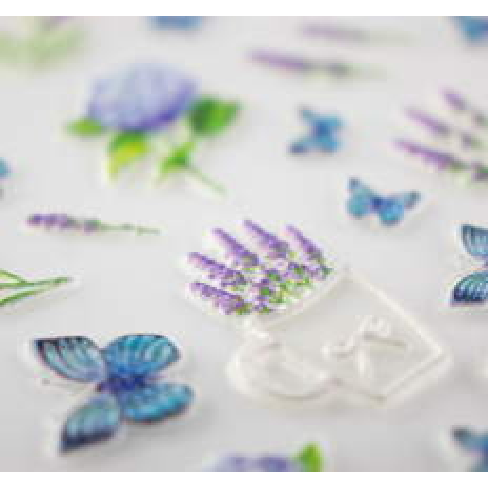 5D nálepka na nechty vzor 18 - kvety, motýle NechtovyRAJ.sk - Daj svojim nechtom všetko, čo potrebujú