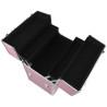 Dvojdielny kozmetický kufrík - ružový zdobený kamienkami NechtovyRAJ.sk - Daj svojim nechtom všetko, čo potrebujú