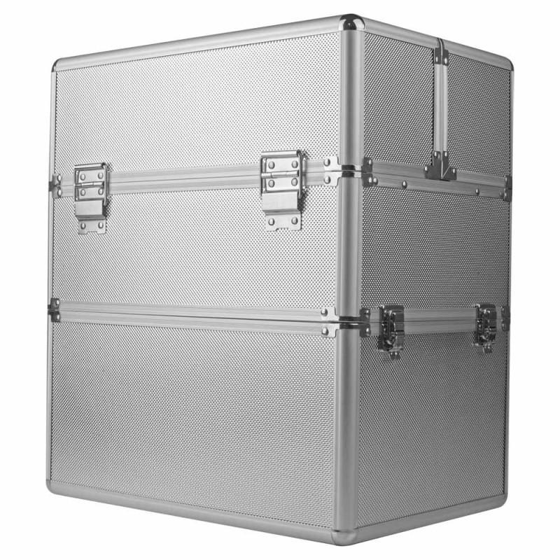 Dvojdielny kozmetický kufrík - strieborný M-3N Strieborná