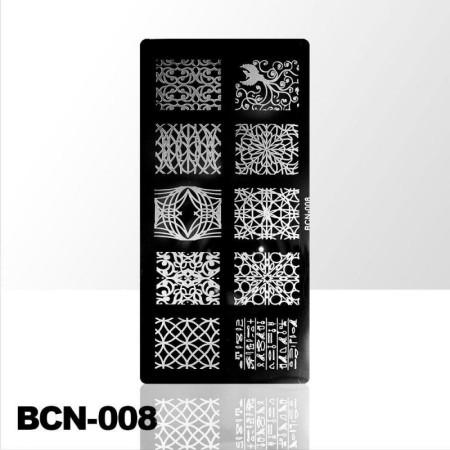 Doštička na pečiatkovanie BCN-008 NechtovyRAJ.sk - Daj svojim nechtom všetko, čo potrebujú