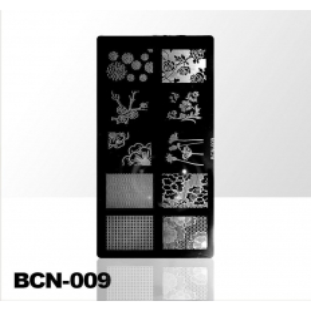 Doštička na pečiatkovanie BCN-009 NechtovyRAJ.sk - Daj svojim nechtom všetko, čo potrebujú