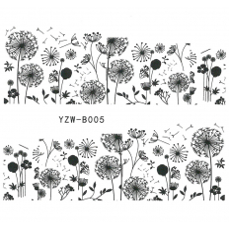 Vodonálepky na nechty motív kvety YZW-B005 NechtovyRAJ.sk - Daj svojim nechtom všetko, čo potrebujú