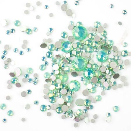 Zirkónové kamienky opal mix - zelené AB, 350 ks NechtovyRAJ.sk - Daj svojim nechtom všetko, čo potrebujú