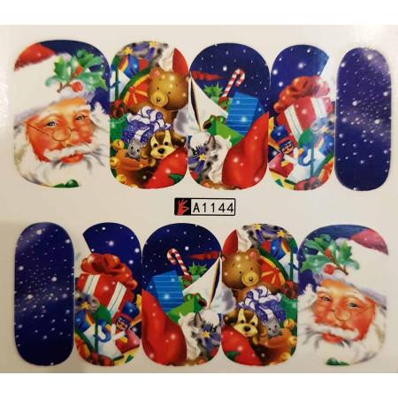 Vianočná vodolepka X-mas A1144 NechtovyRAJ.sk - Daj svojim nechtom všetko, čo potrebujú