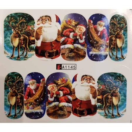 Vianočná vodolepka X-mas A1145 NechtovyRAJ.sk - Daj svojim nechtom všetko, čo potrebujú