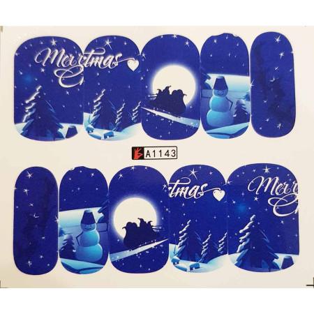 Vianočná vodolepka X-mas A1143 NechtovyRAJ.sk - Daj svojim nechtom všetko, čo potrebujú