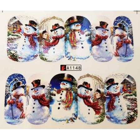 Vianočná vodolepka X-mas A1148 NechtovyRAJ.sk - Daj svojim nechtom všetko, čo potrebujú