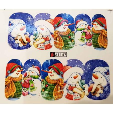 Vianočná vodolepka X-mas A1147 NechtovyRAJ.sk - Daj svojim nechtom všetko, čo potrebujú