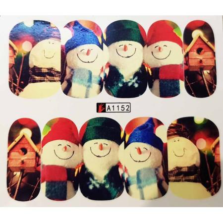 Vianočná vodolepka X-mas A1152 NechtovyRAJ.sk - Daj svojim nechtom všetko, čo potrebujú