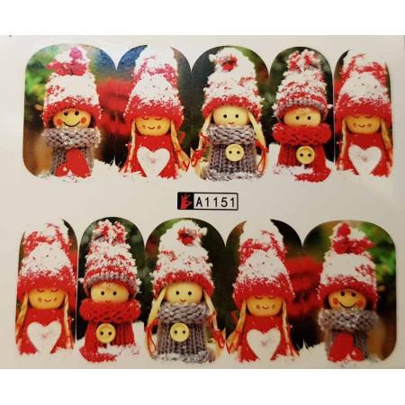 Vianočná vodolepka X-mas A1151 NechtovyRAJ.sk - Daj svojim nechtom všetko, čo potrebujú