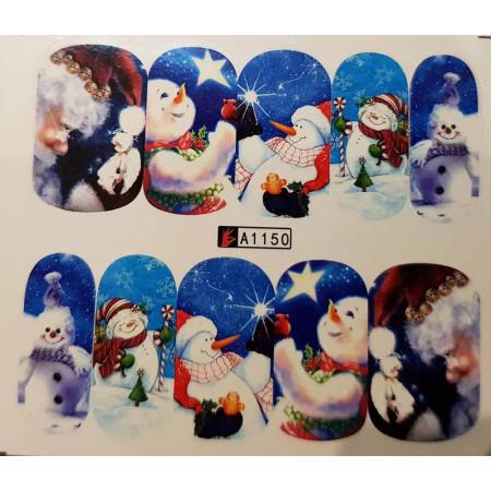 Vianočná vodolepka X-mas A1150 NechtovyRAJ.sk - Daj svojim nechtom všetko, čo potrebujú