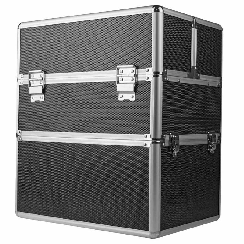 Dvojdielny kozmetický kufrík - čierny M-3N Čierna