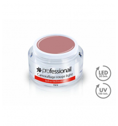 LED-UV GÉL KAMUFLÁŽ ROUGE LIGHT 15ML PROFESSIONAIL