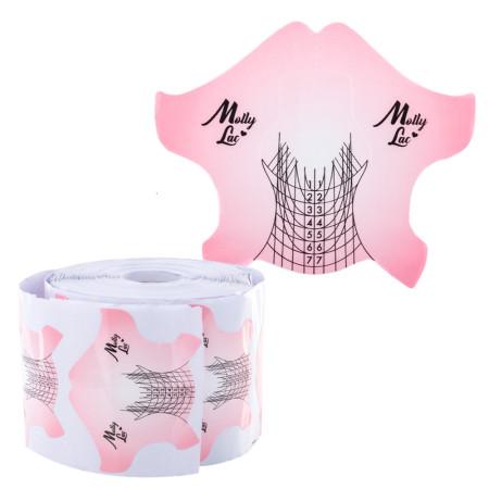 Šablóny na nechty Molly Salon Line 500ks ružové NechtovyRAJ.sk - Daj svojim nechtom všetko, čo potrebujú