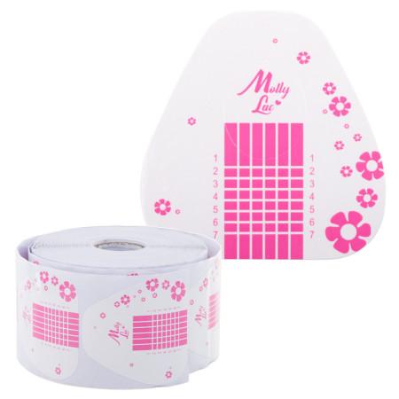 Šablóny na nechty Molly ružové kvety 500 ks NechtovyRAJ.sk - Daj svojim nechtom všetko, čo potrebujú